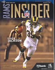 Minnesota Vikings St Louis Rams 12/16/12 Game Program...Steven Jackson on Cover