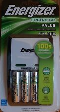 ENERGIZER RECHARGEABLE 4 AA BATTERIES AND CHARGER NEW
