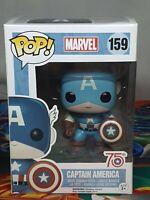 Marvel Captain America 75th #159 Pop Vinyl Bobble-Head Figure Funko Aus Seller