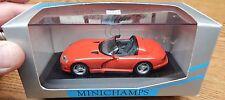Pma Minichamps 1993 Dodge Viper Cabriolet In Red Color 1/43 Scale Nib Lqqk