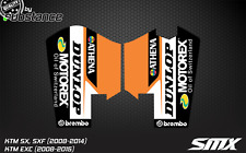 SX SXF EXC fork protector stickers fork decals front fork graphics 2007-2014 KTM