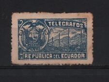 ECUADOR 1900´s TELEGRAPH SERVICE SEAL REVENUE  COAT OF ARMS BLUE VERY RARE