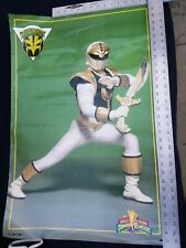 Vintage 1994 Mighty Morphin Power Rangers Poster Tommy White Ranger