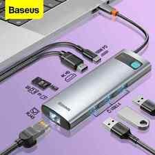 Baseus USB Typ C Hub 4K HDMI RJ45 TF 100W Splitter Adapter für Macbook Lenvon