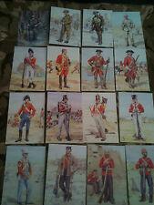 Set x 16 Military Postcards Royal Anglian Regiment by Alix Baker