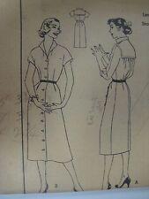 Vintage 50s Butterick 7233 SHIRTWAIST DRESS Sewing Pattern Women Sz 14 UNCUT