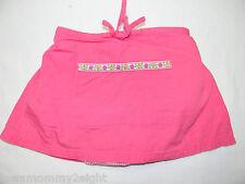 Gymboree Vintage 1999 Pink Skirt Skort Gingham Flower 24 m