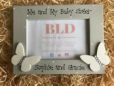 Personalised Me and My Baby Sister Sibling Photo Picture Frame Keepsake Gift 6x4