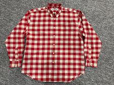 BEN SHERMAN Long Sleeve Button Down Shirt Red & White Check Size - XL