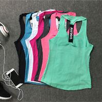 Women Ladies Sports Vest Tank Singlet Top Fitness Yoga Gym Racer Running Shirt