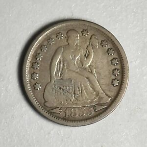 1855 Arrows Seated Liberty Dime Choice Very Fine With Nice Original Surfaces
