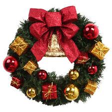 Decorazioni natalizie Corona di porte e finestre Lusso Merry Christmas Garl Q0G5