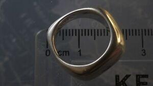 Toftegaard Denmark Vintage Sterling Silver Brutalist Modernist Ring 925S 12-13g