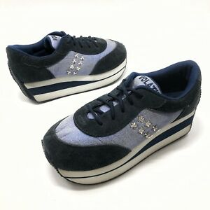 ✅❤️✅7 VOLATILE Enterprise Platform Sneakers Womens Sz 9 Blue Lace Studded