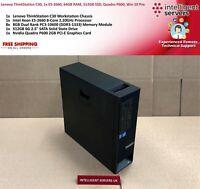 Lenovo ThinkStation C30, 1x E5-2660, 64GB, 512GB SSD, Quadro P600, Win 10 Pro