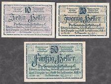 Helfenberg (OÖ) -Gemeinde- 10, 20 und 50 Heller (JP 218 a)