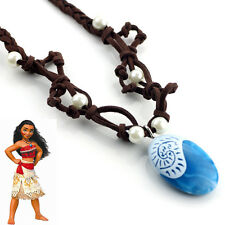 Movie Princess Moana Necklace Monana Cospaly Women Blue Pendant Kids Chain Gift