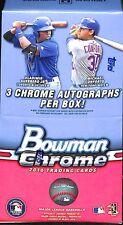 2016 Bowman Chrome Vending Sealed Hobby Box