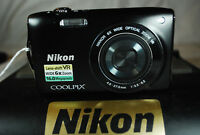 Excellent Nikon COOLPIX S3300 16MP Compact Digital Camera - Choice of Colours