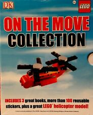 ON THE MOVE COLLECTION: LEGO Book, Helicopter Model, Sticker Kit