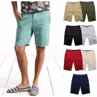 Summer Mens Chino Shorts Cotton Beach Jeans Cargo Combat Half Pants Casual New