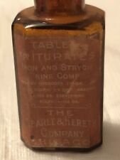 The Searle & Hereth Co Iron & Strychnine Compound Bottle Empty
