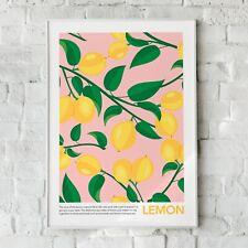 Zitronen-, Obst-, Obst Wandbild, Wohnkultur, Zitrone Obst Kunst