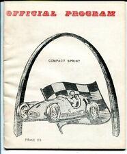 St Louis Auto Racing Association Compact Sprint Program-1960's-midgets-VG
