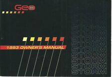 CHEVROLET GEO STORM  Owner´s Manual 1993 Betriebsanleitung Handbook  BA