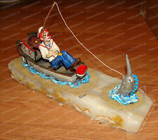 CATCH OF THE DAY (Ron Lee's World of Clowns 441) USS Teutonic Tug Boat, Sailfish
