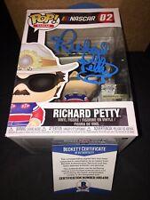 Richard Petty Signed Official NASCAR Funko Pop Vinyl Figure Beckett