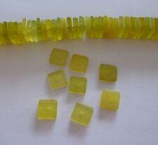 10 Stück exklusive Lemonenquarz Perlen Quadrat Platte 1,2-1,6x4mm