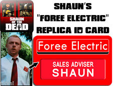 Shaun of the Dead Foree Electric Replica PVC ID card - Halloween costume prop