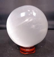 "3"" White Selenite Ball Sphere Crystal Quartz Natural Stone"