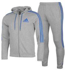 Adidas 3 Raya Chándal de Hombre Chándal Chándal Gris Azul