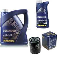 Ölwechsel Set 6L MANNOL Defender 10W-40 Motoröl + SCT Filter KIT 10190673