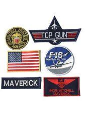 Maverick Pete Mitchell Top Gun  Iron-On Patch Set , Aufnäher Bügelbild