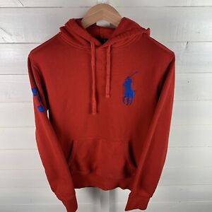Men's Red Ralph Lauren Polo Hoodie Size Small. Embroidered Logo.