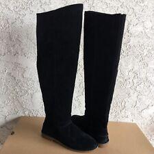 UGG Loma Over the knee Black Suede Unlined Tall Boots Size US 6 Women's