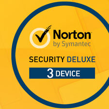 Norton Security Deluxe 2019 3 Devices 3 PC 2 Years PC Mac Internet IOS 2018 UK