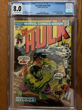 INCREDIBLE HULK 180 CGC 8.0 1ST CAMEO WOLVERINE. BRONZE KEY🔥 OW/WHITE PAGES