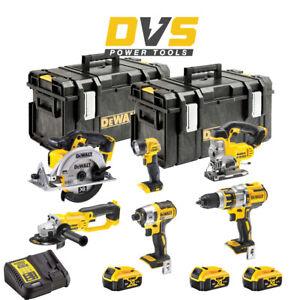 DeWalt DCK694P3 Cordless 18V 6 Piece Power Tool Set with 3x5Ah Batteries & Cases