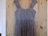 NEW with tags stunning lace Top Shop taupe dress.size 12.RRP £49.99.