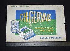 BUVARD CHARLES GERVAIS 1950 SUISSE OU CARRE NORMANDIE FROMAGES FRAIS CREME