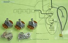 Wiring Kit for Import Fender JAZZ BASS COMPLETE w/ Diagram - Made in Japan MIJ