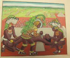 Unique & Original ETHEL SPEARS Watercolor Painting of Aztecs c. 1940 Oriental