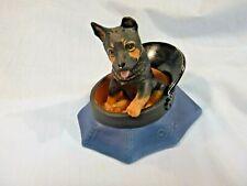 Princeton Gallery 1992 Dogs K-9 Kaper Porcelain Playful Pup Police 2 piece set