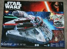 Star Wars -The Force Awakens -Millennium Falcon Playset + Figures -Boxed -Hasbro