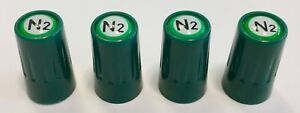 4...Long.. (Nitrogen) VALVE CAPS -N2- inlayed...TPMS Safe..w/ Window Decal