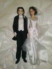 Barbie Twilight Saga Breaking Dawn Bella Bride Groom Edward Dolls Wedding Day
